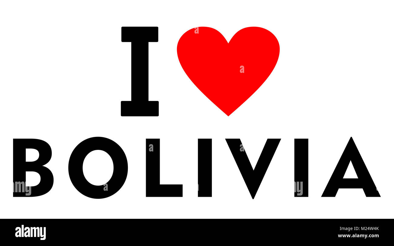 I love bolivia country text red heart message stock photo royalty i love bolivia country text red heart message biocorpaavc
