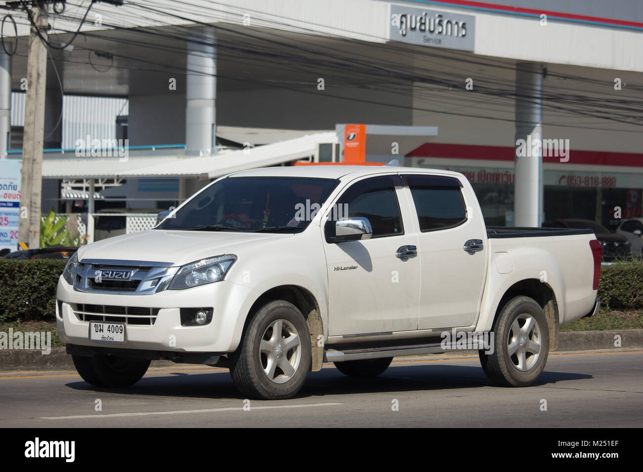 chiang mai, thailand -january 9 2018: private isuzu dmax pickup
