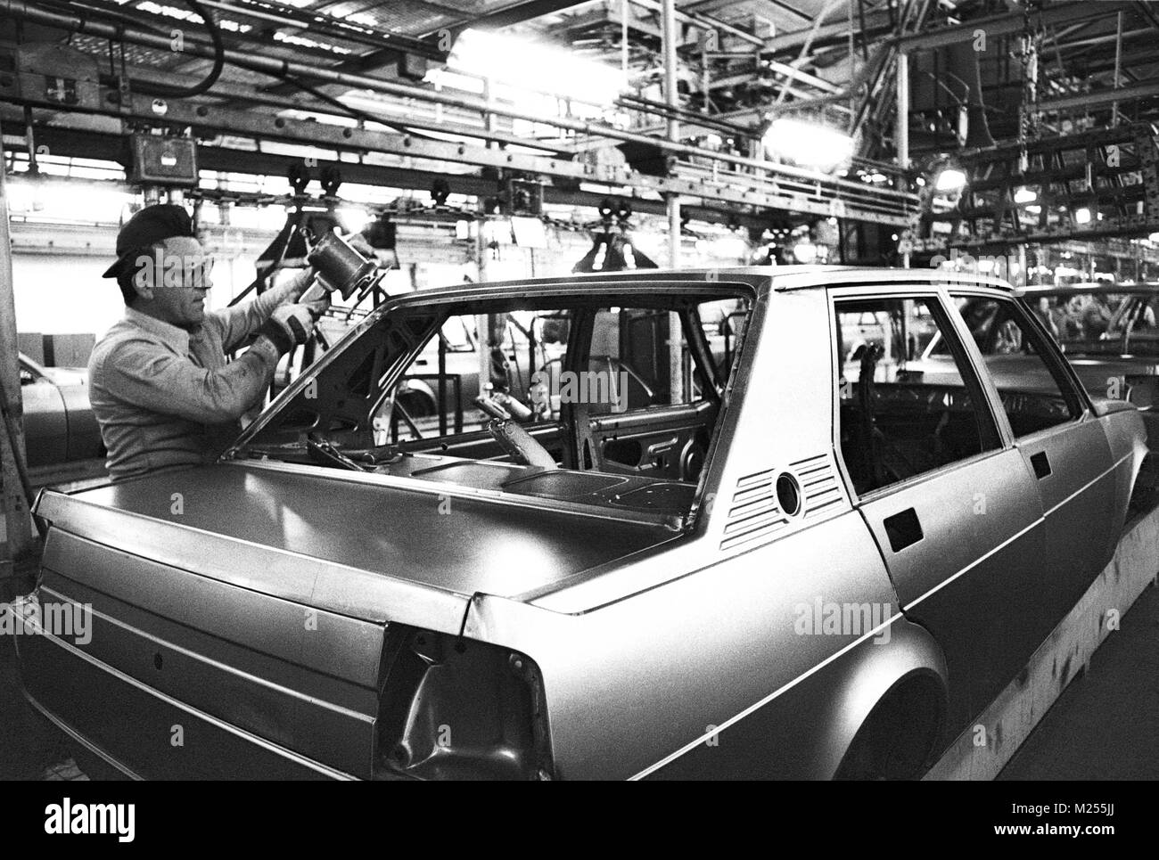 Assembly Lines In The Car Factory Alfa Romeo In Arese Milan Mars