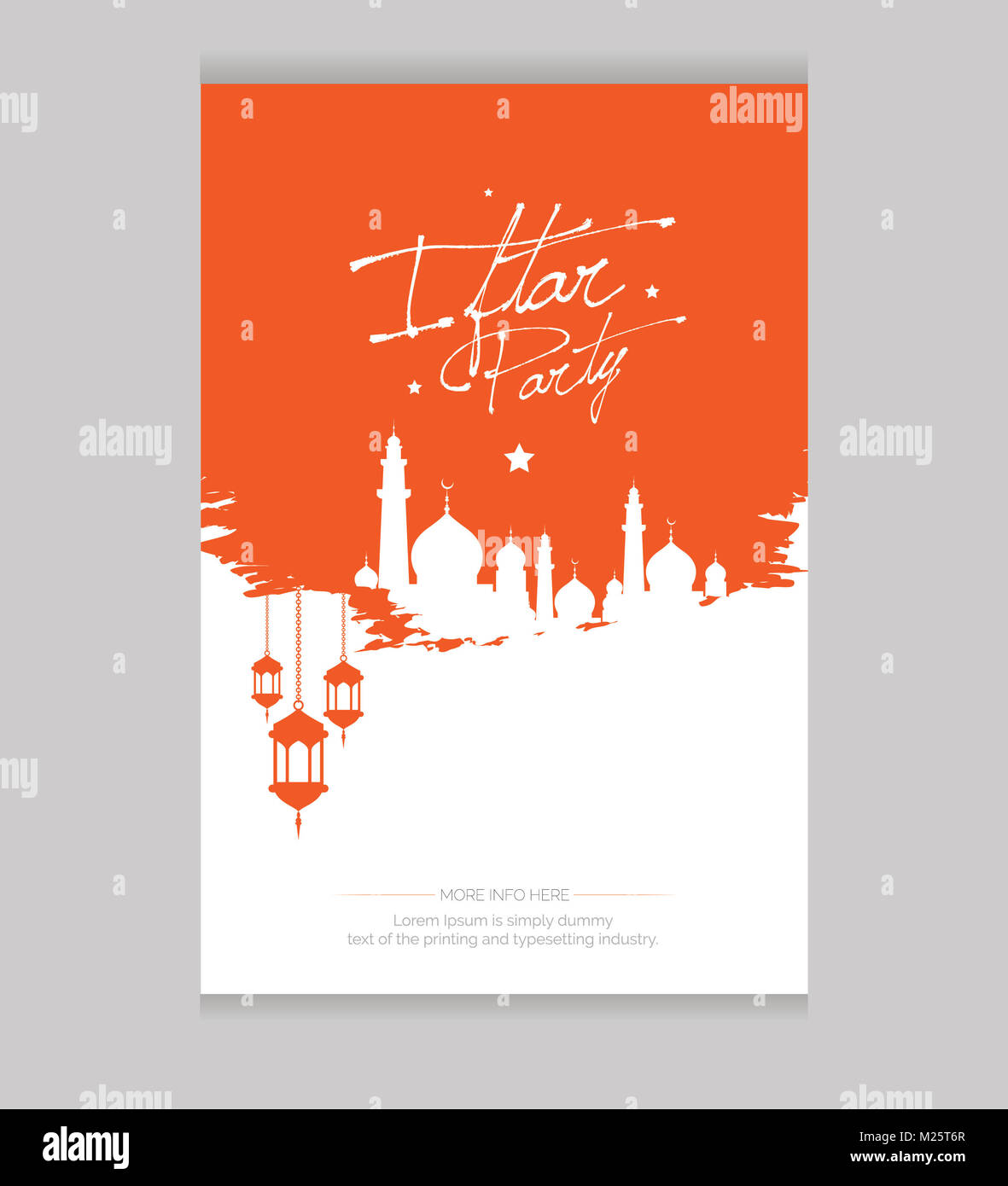 Islamic traditional iftar party invitation card background design islamic traditional iftar party invitation card background design vector illustration stopboris Images