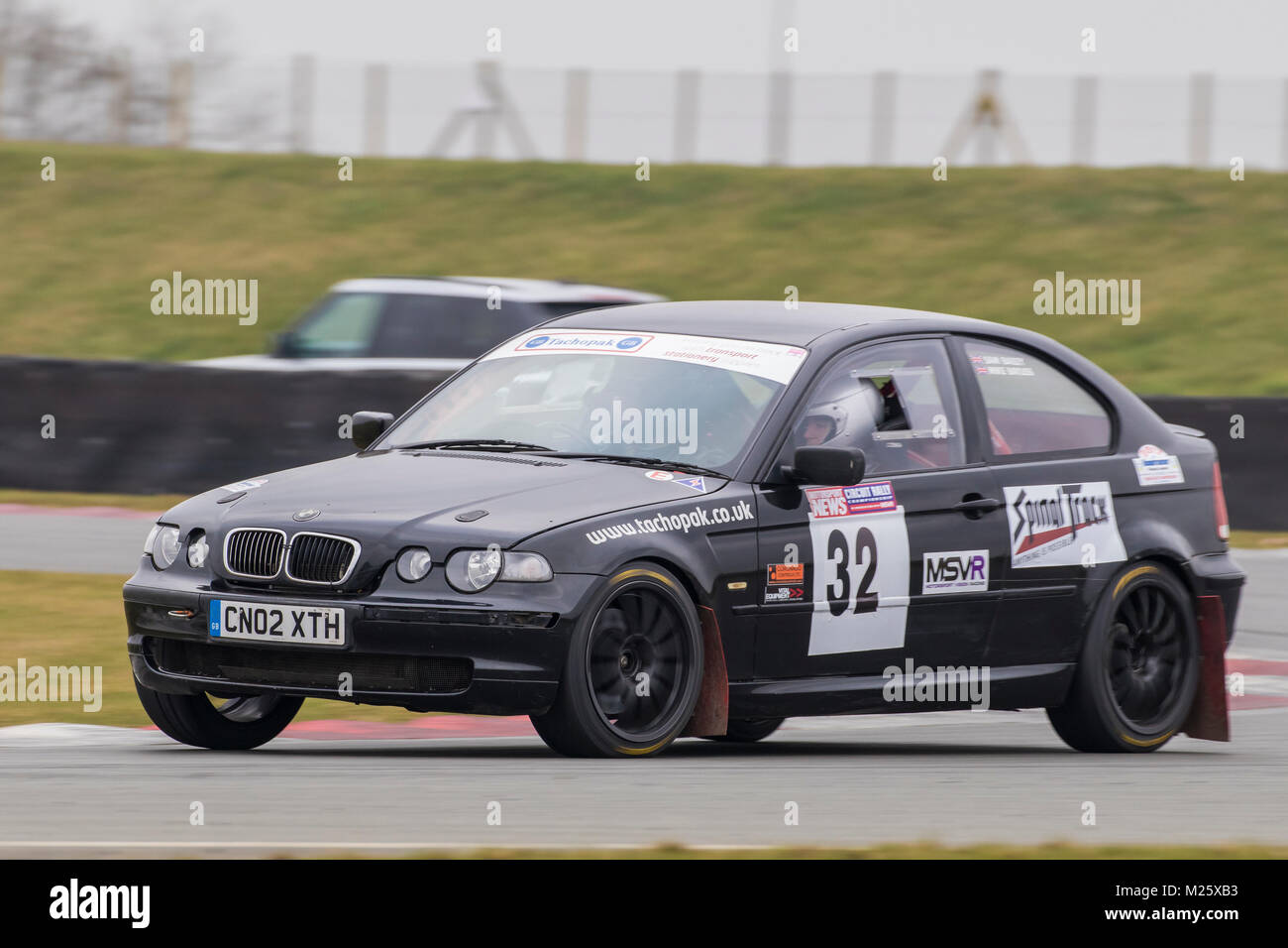 Bmw Compact With Driver Mike Bayliss And Co Driver Sam Bailey At The