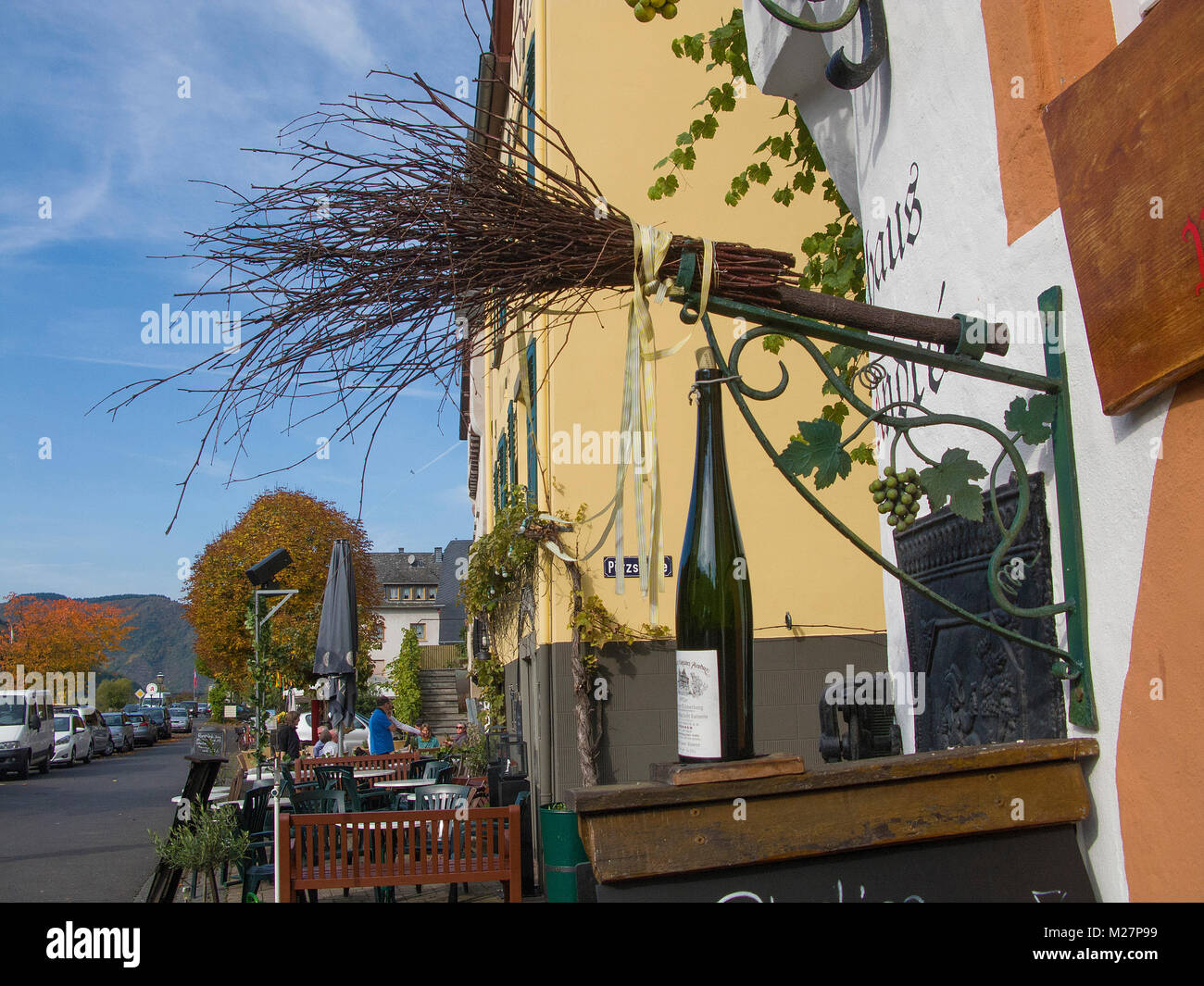 Gastronomy symbol stock photos gastronomy symbol stock images alamy the broom is a symbol for a wine tavern which selling homegrown wine wine village biocorpaavc Gallery