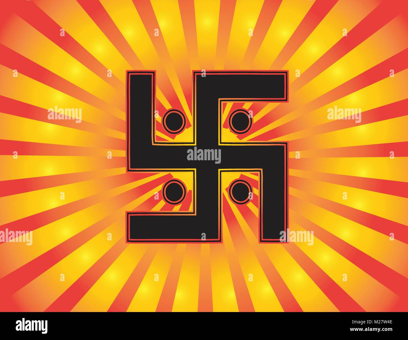 The most important symbol in the religion of jainism the sun the most important symbol in the religion of jainism the sun swastika gradient red and gold background red and gold sun rays button vector biocorpaavc