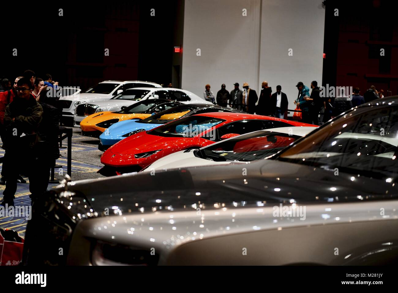 Exotic And Luxury Sports Cars At The Washington Auto Show Stock - Washington car show discount tickets