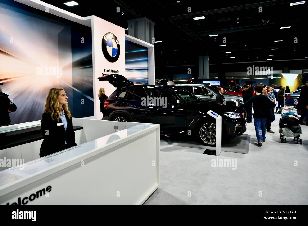 Bmw Cars At The 2018 Washington Auto Show Washington Dc Usa Stock