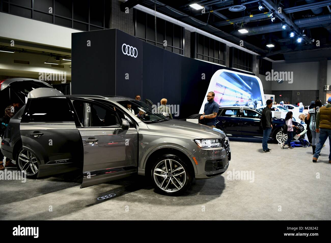Audi Cars At The Washington Auto Show Washington DC USA Stock - Washington dc car show discount tickets