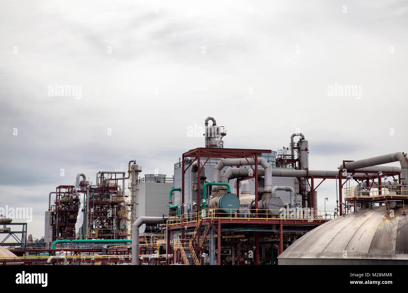 Philadelphia Gas Works Industry Along Interstate 95 Pa Usa Stock