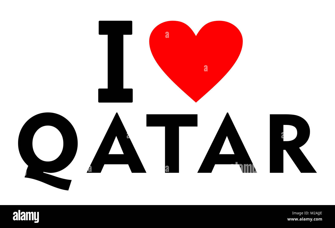 I love qatar country text red heart message stock photo royalty i love qatar country text red heart message biocorpaavc