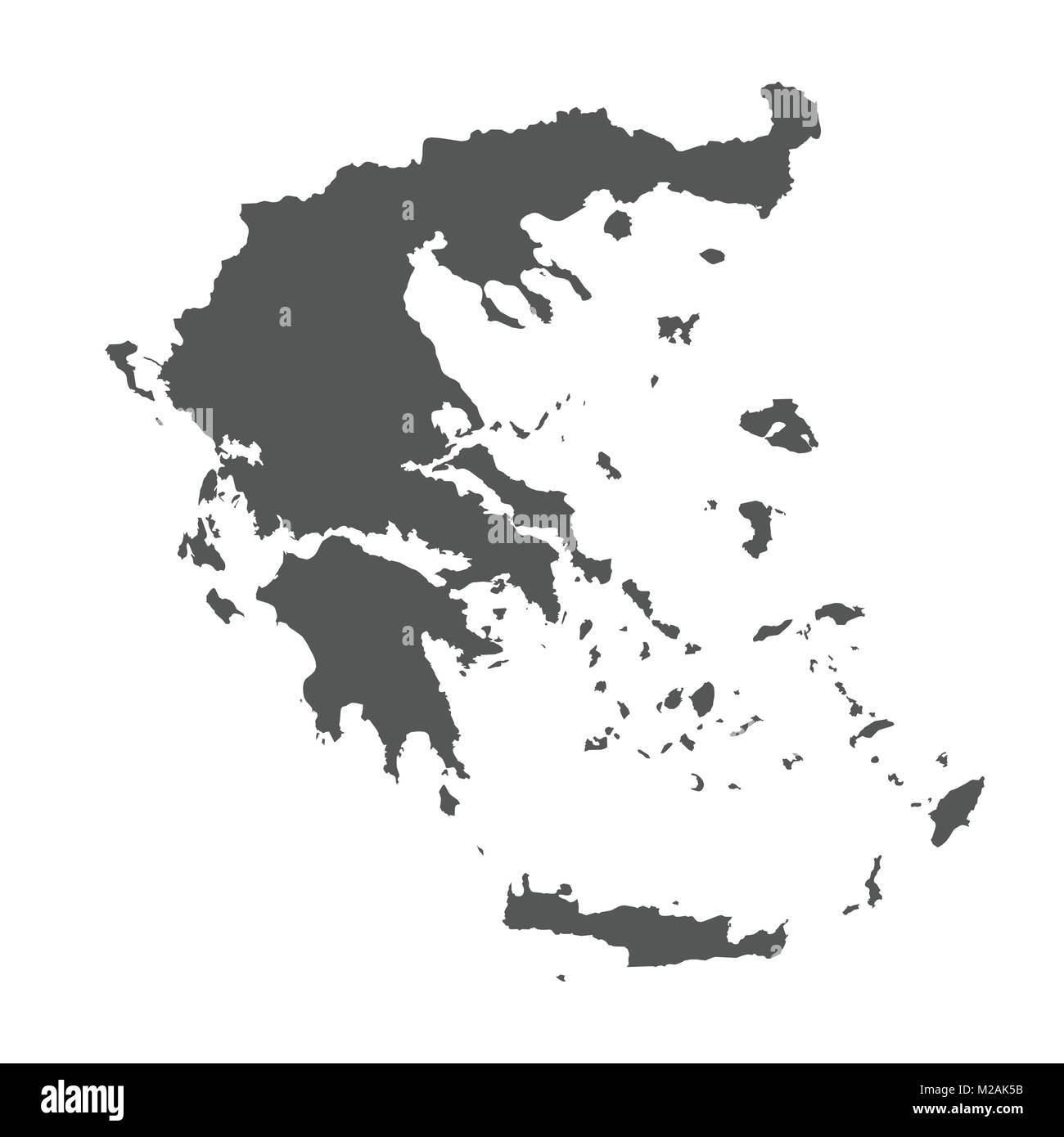 Greece vector map. Black icon on white background Stock Vector Art ...
