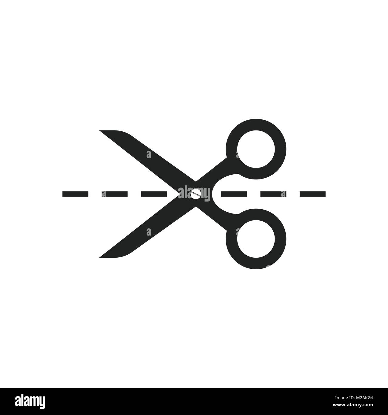 Scissors icon with cut line scissor vector illustration stock scissors icon with cut line scissor vector illustration biocorpaavc