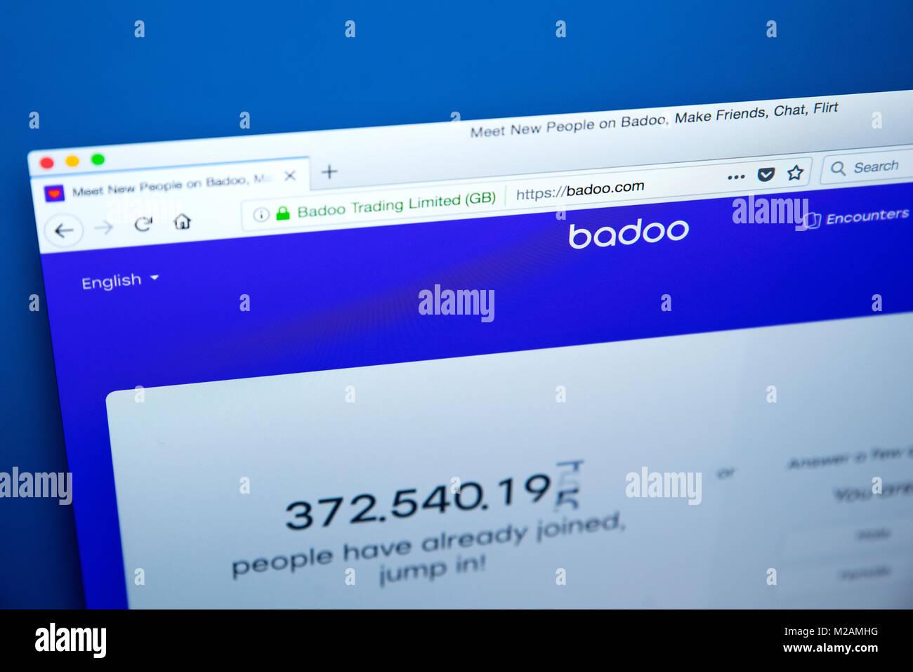 Badoo homepage