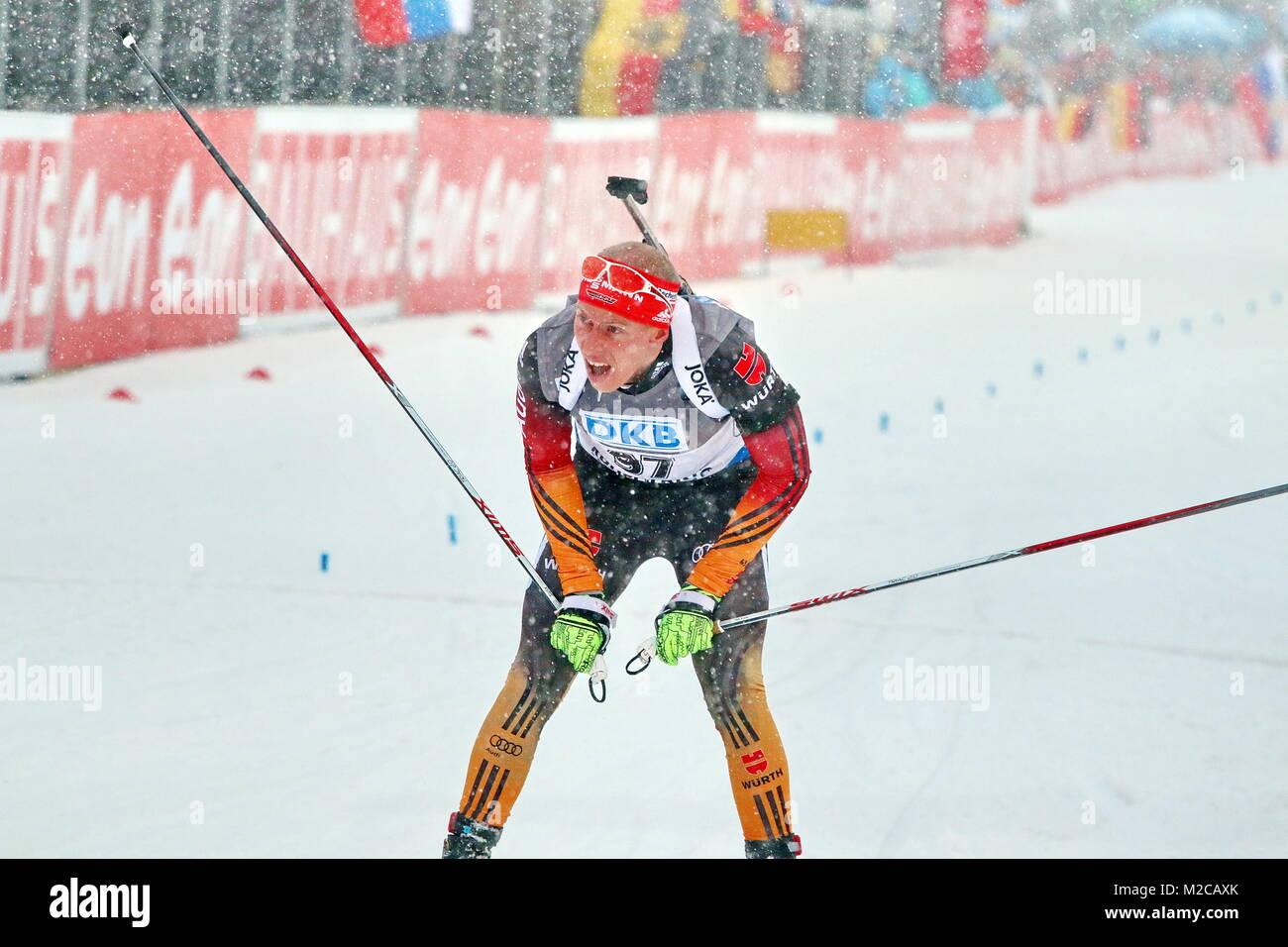 Daniel Böhm daniel böhm sc buntenbock beim zieleinlauf ibu weltcup biathlon
