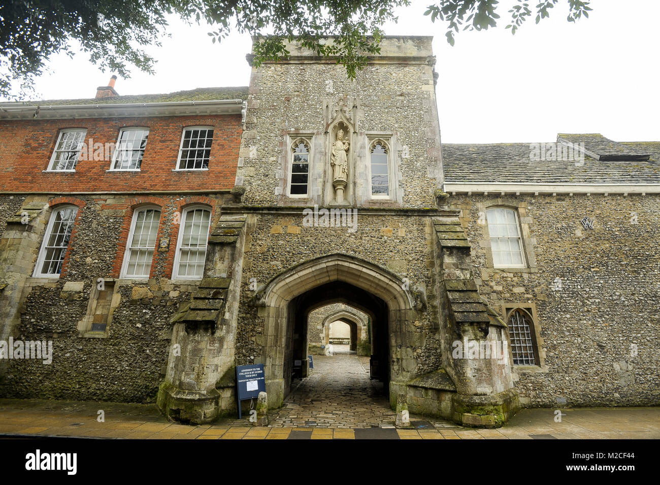 Winchester College founded in 1382 by bishop William of Wykeham is  independent boarding school for boys in Winchester, Hampshire, England,  United King