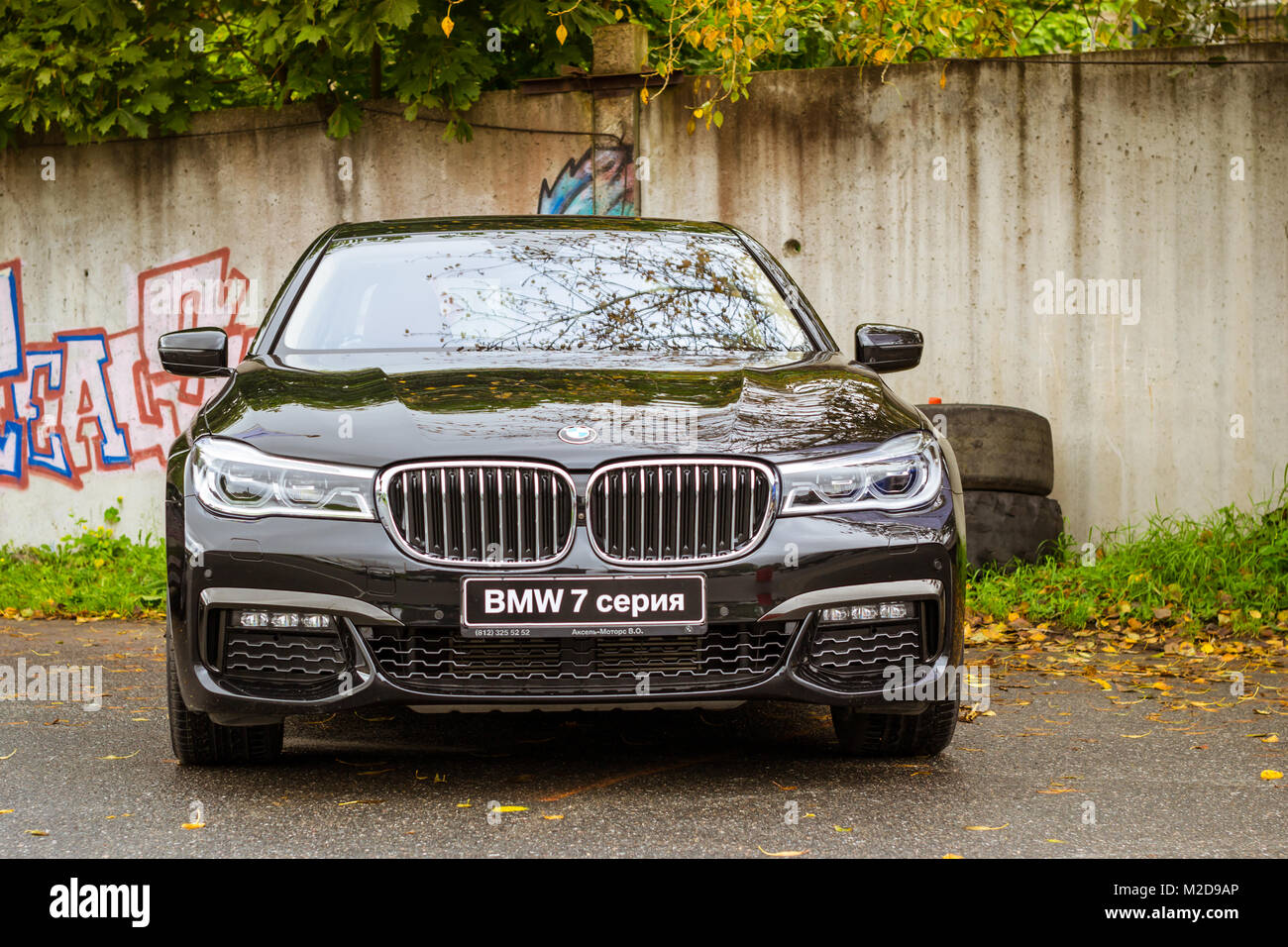 Saint Petersburg, Russia   September 16, 2017: Car BMW 7 Series