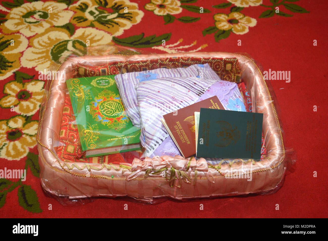 Green And Brown Indonesian Marriage Book With Holy Quran For The