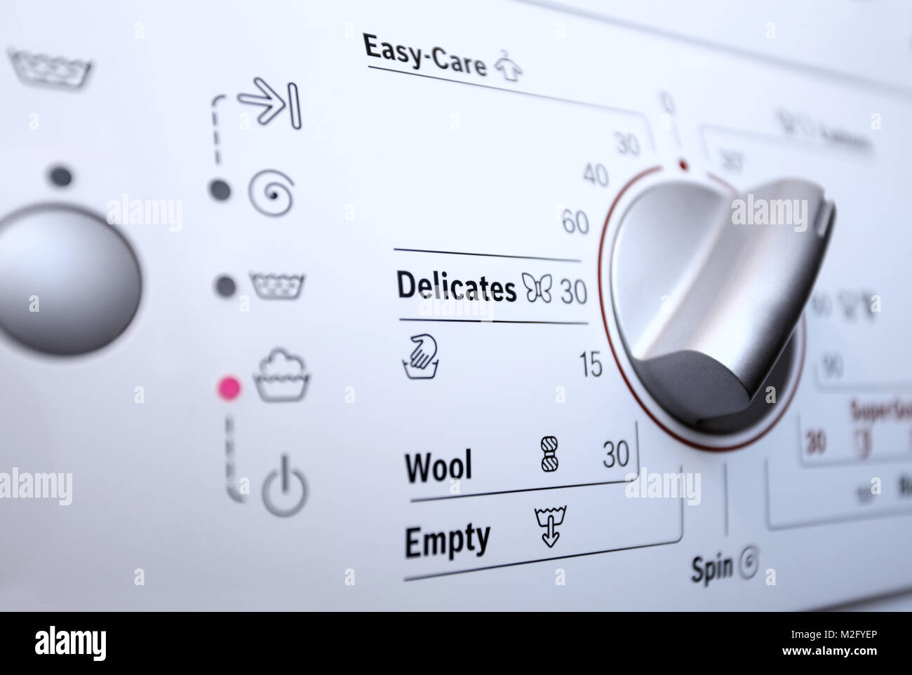 Washing machine dial stock photos washing machine dial stock close up view of washing machine control panel stock image buycottarizona Choice Image
