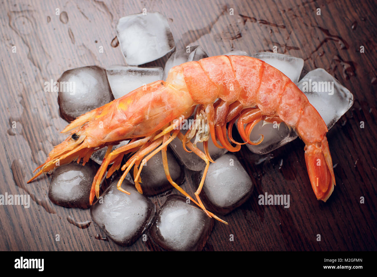 Argentine Raw Shrimp Seafood Food Red Ice Stock Photo 173696565 Alamy
