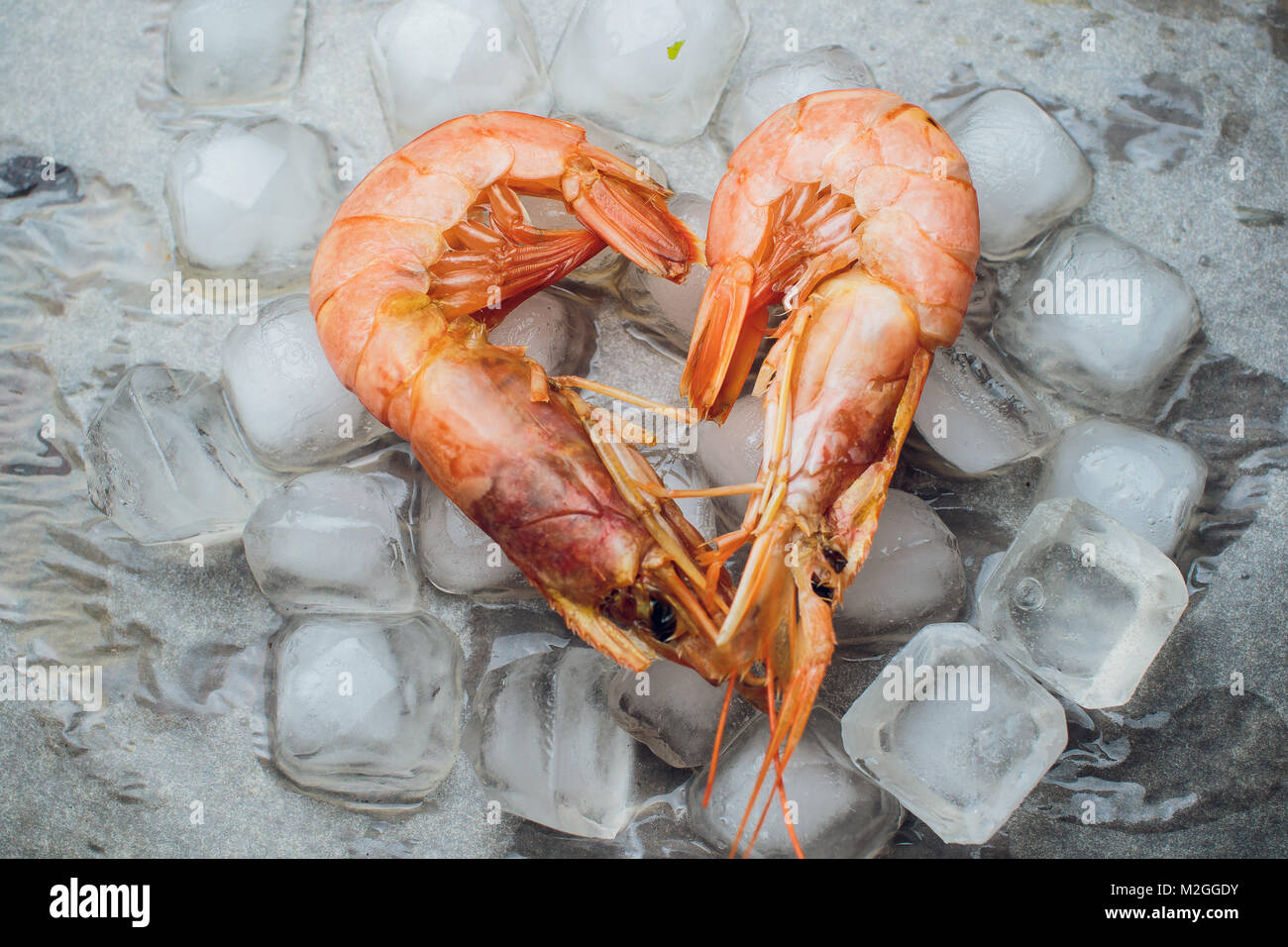 Argentine Raw Shrimp Seafood Food Red Ice Stock Photo 173697159 Alamy