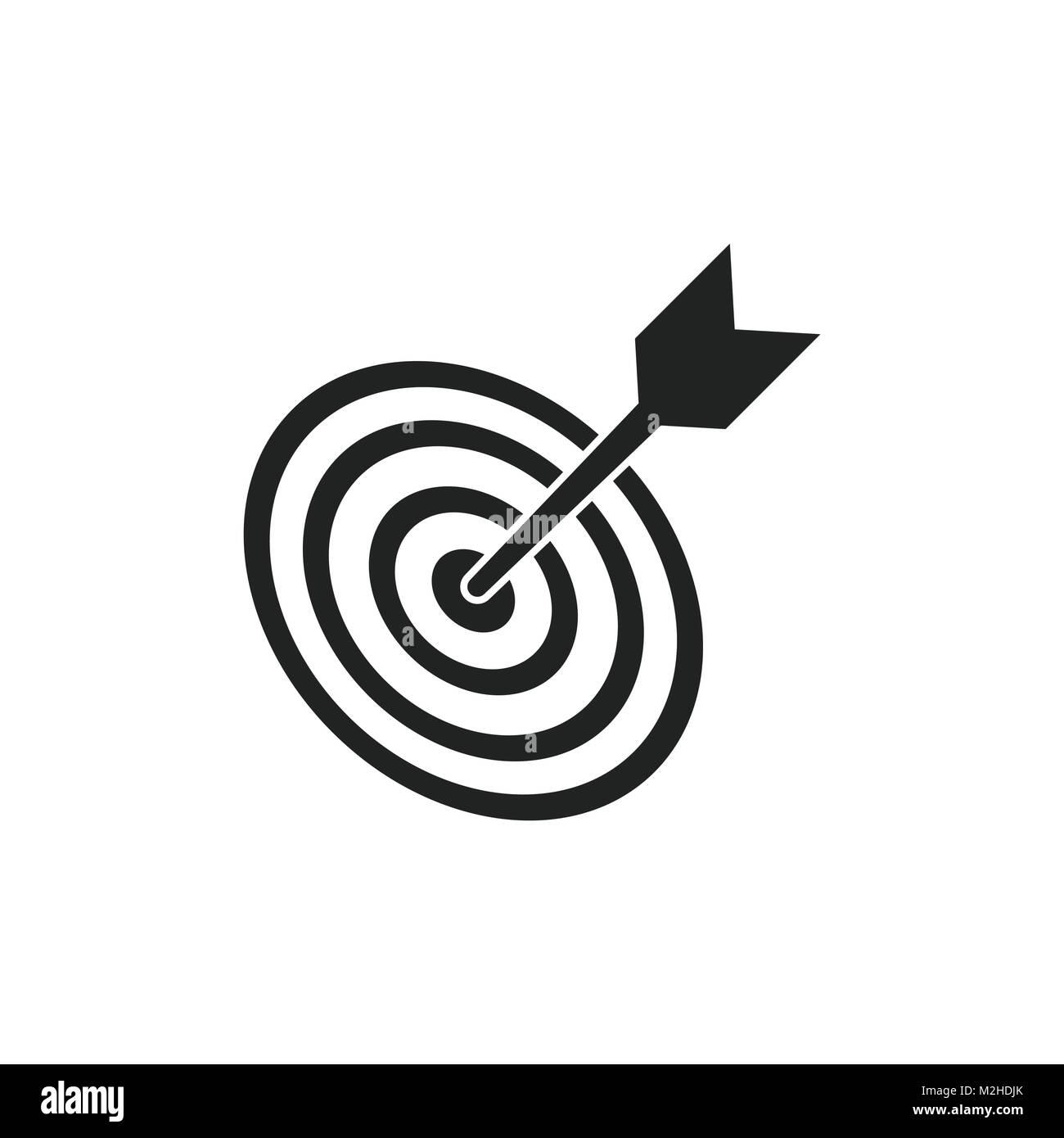 Target aim flat vector icon darts game symbol logo illustration target aim flat vector icon darts game symbol logo illustration success pictogram concept buycottarizona Image collections