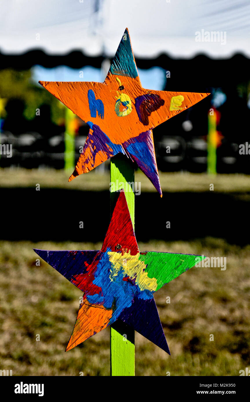 fort hood texas a memorial star from a fort hood elementary