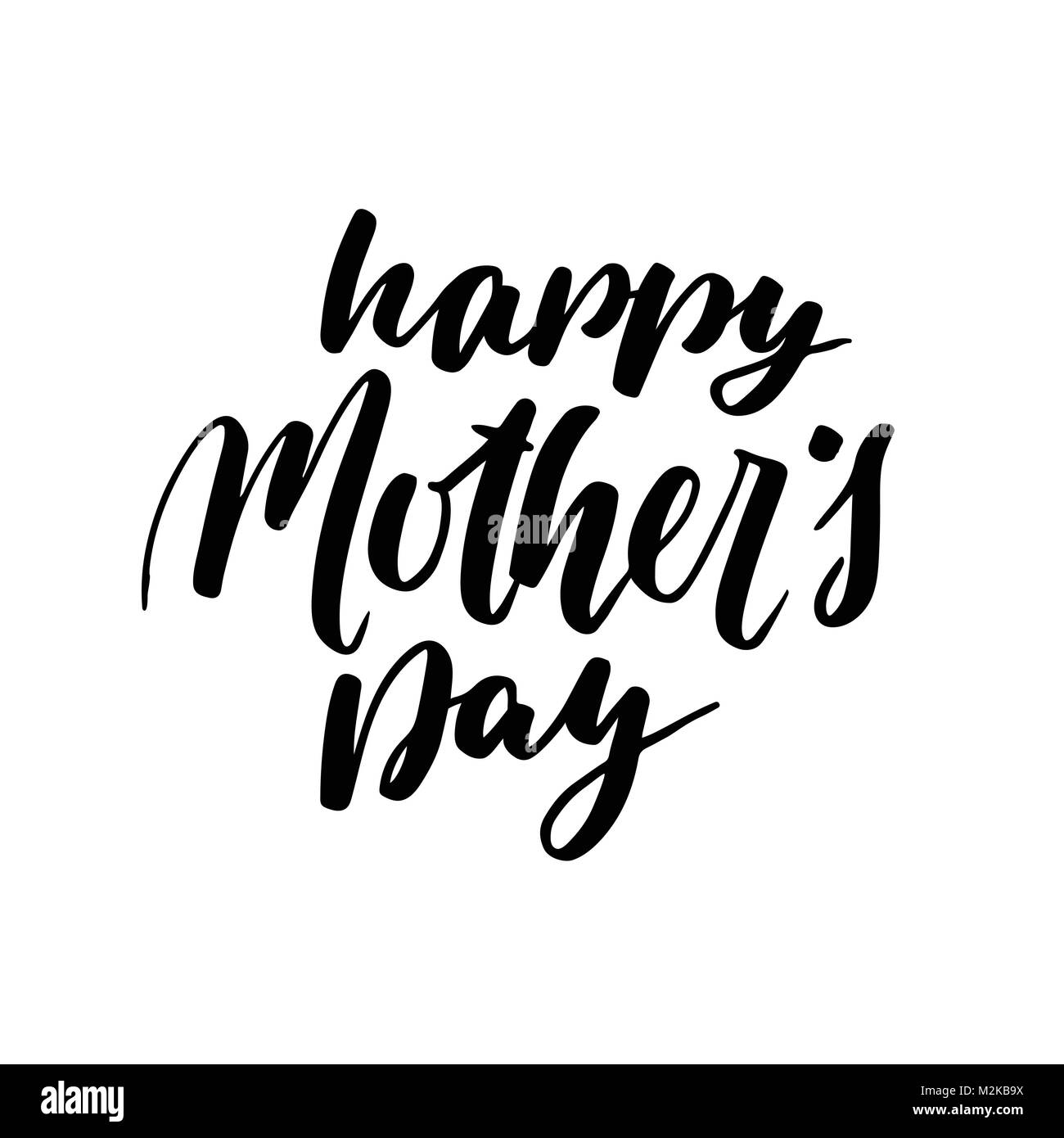 Happy mothers day greeting card black calligraphy inscription happy mothers day greeting card black calligraphy inscription modern hand lettering design postcard brush handwritten text isolated on white backg m4hsunfo