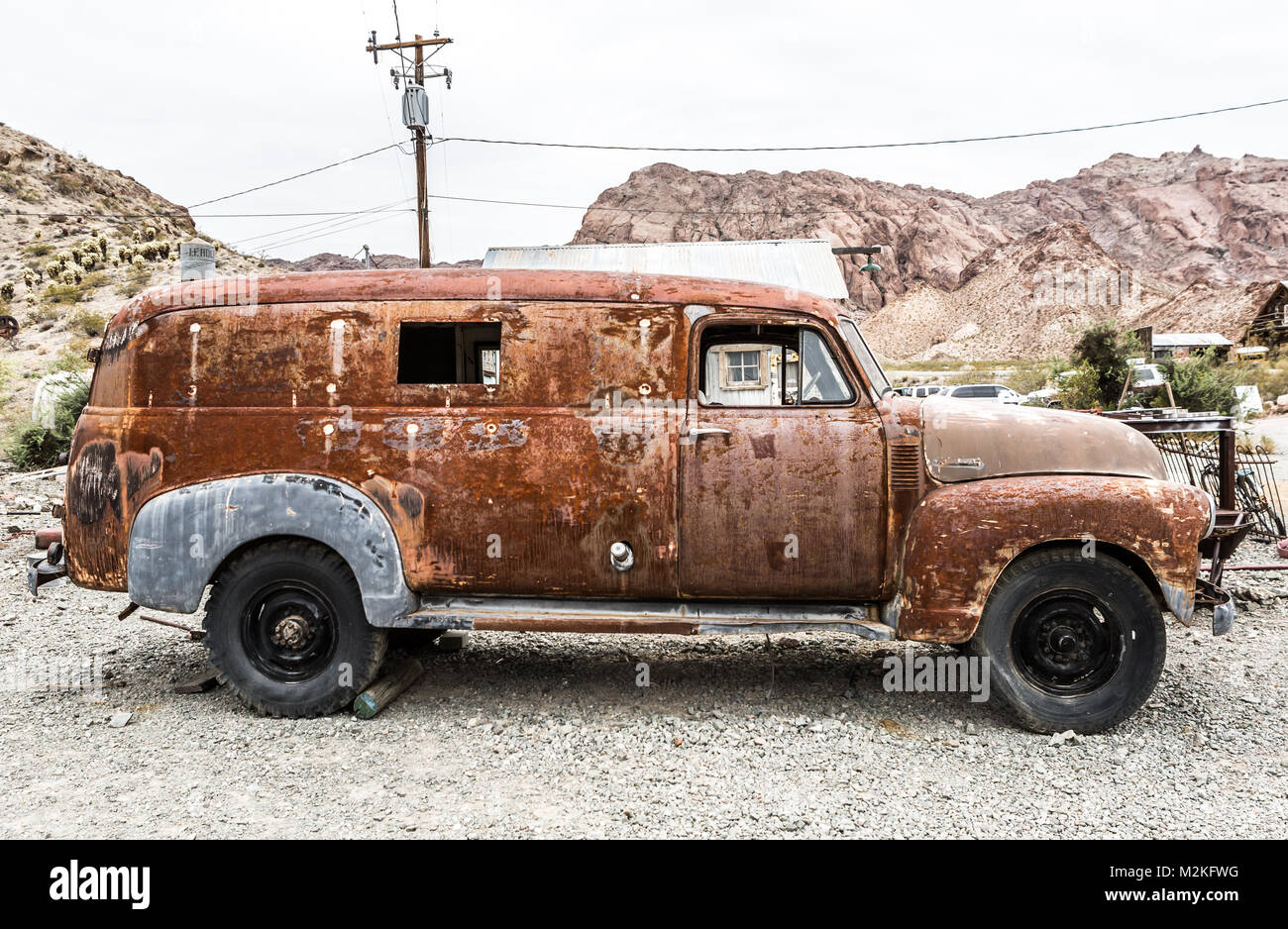 NELSON , USA - JUNE 10 : Old rusty truck in Nelson Nevada ghost town ...