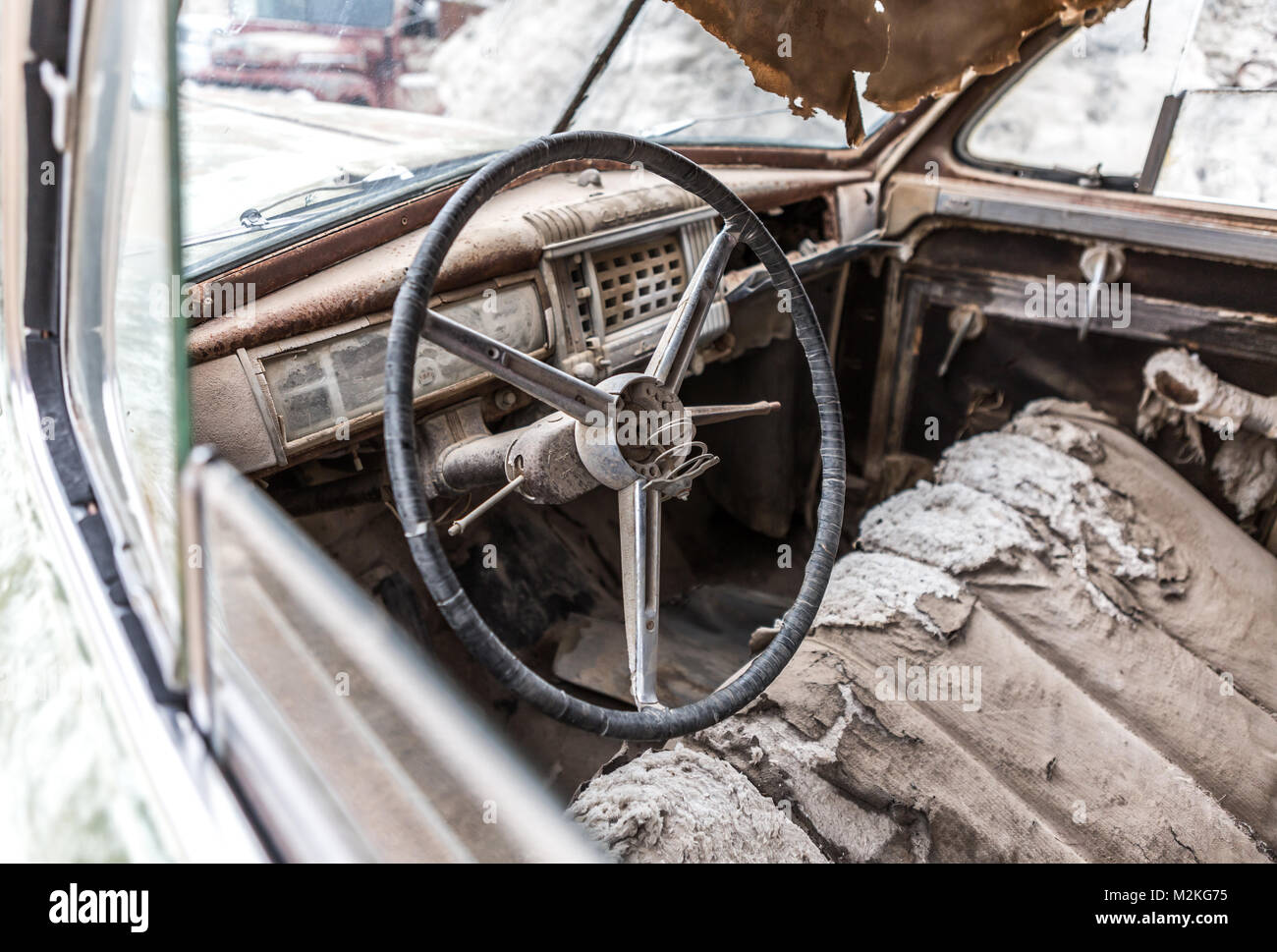 old rusty truck interior stock photos old rusty truck interior stock images alamy. Black Bedroom Furniture Sets. Home Design Ideas