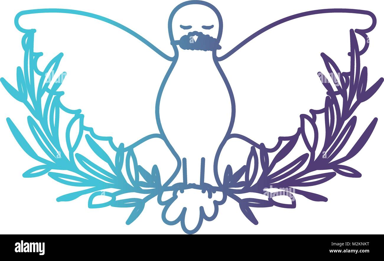 Olive branch symbol gallery symbol and sign ideas pigeon peace symbol front view with olive branch in her peak on pigeon peace symbol front biocorpaavc