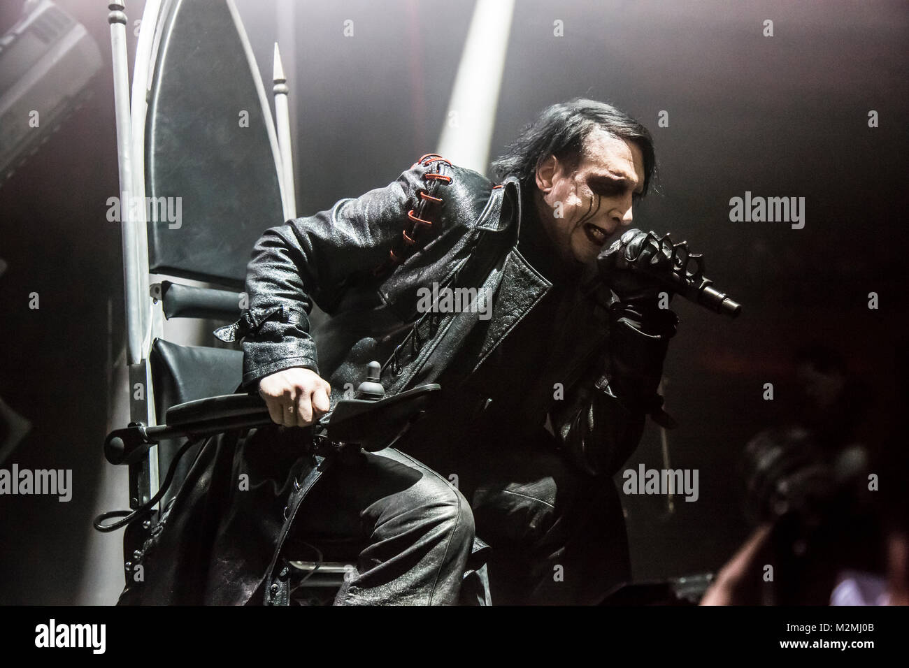 Marilyn manson concert stock photos marilyn manson concert stock marilyn manson performs at hollywood palladium in los angeles on the heaven upside down tour 2018 kristyandbryce Choice Image