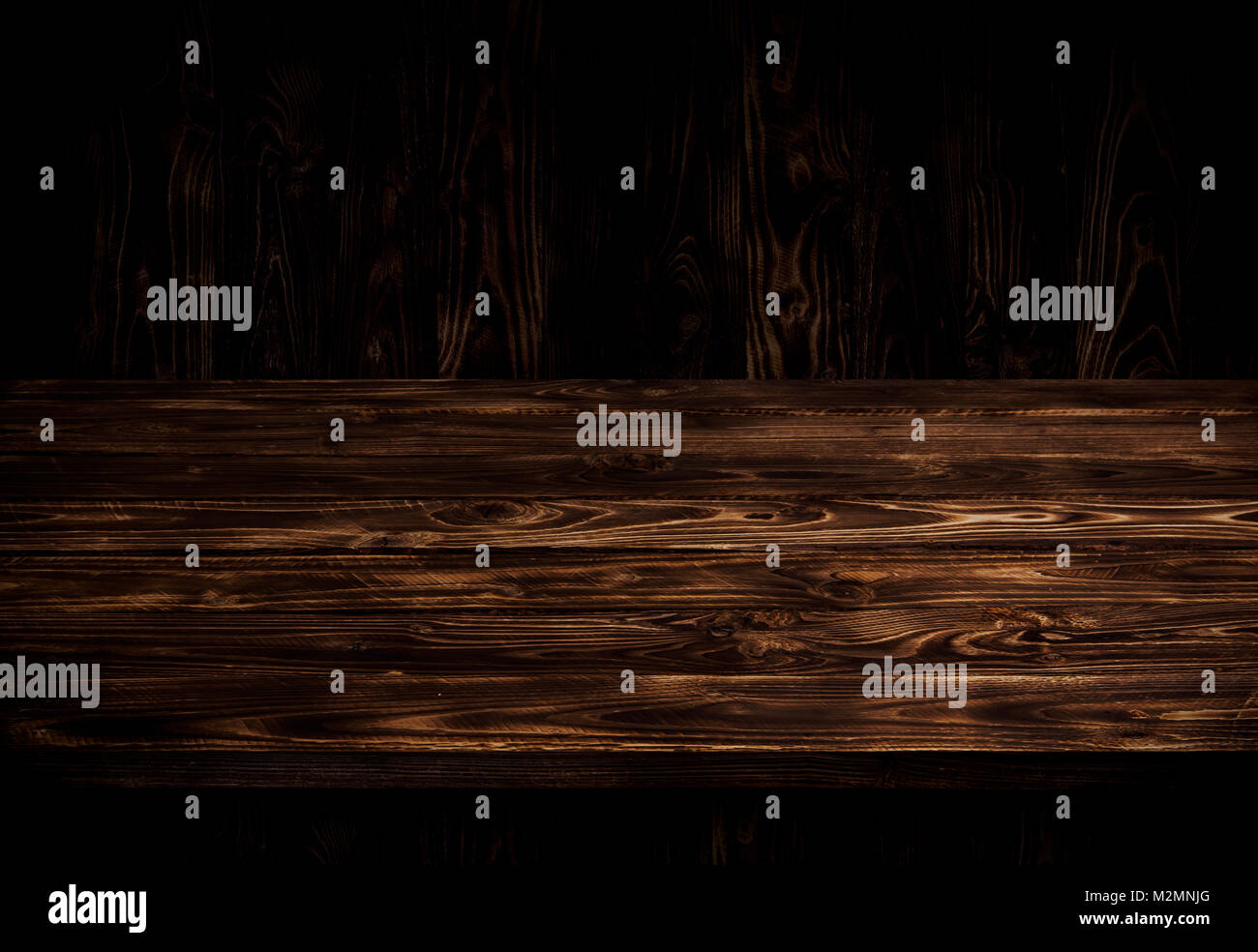 Dark wood table brown wooden perspective interior for product