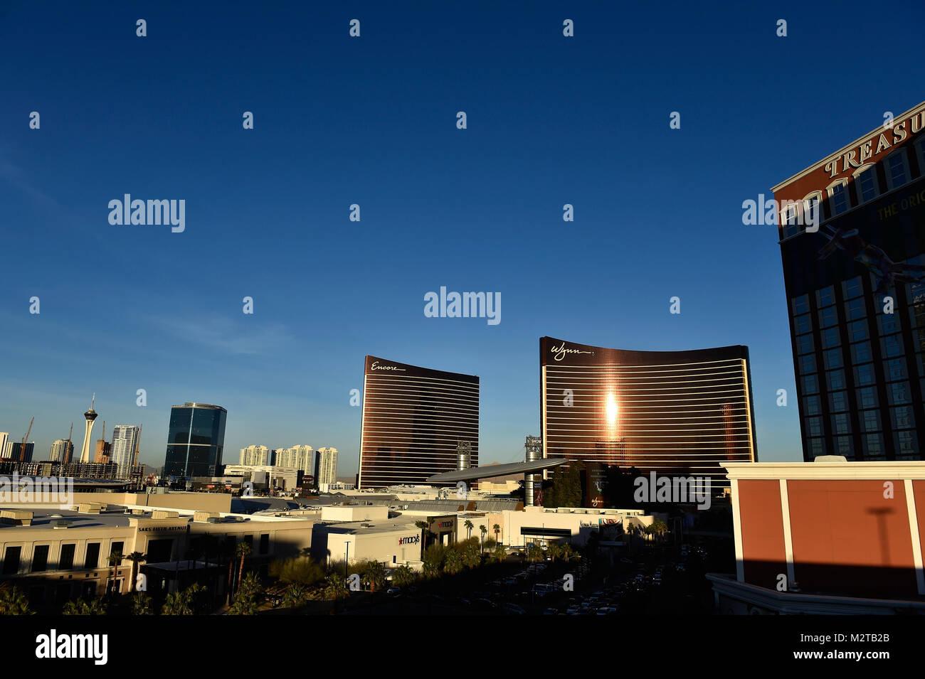 Las Vegas, Nevada, USA. 8th Feb, 2018. The Encore and Wynn Las Vegas ...
