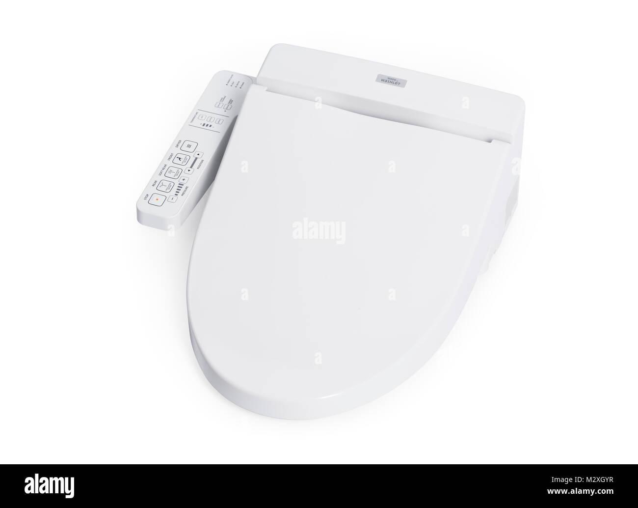 Toto Washlet Bidet Toilet Seat Isolated On White Background With