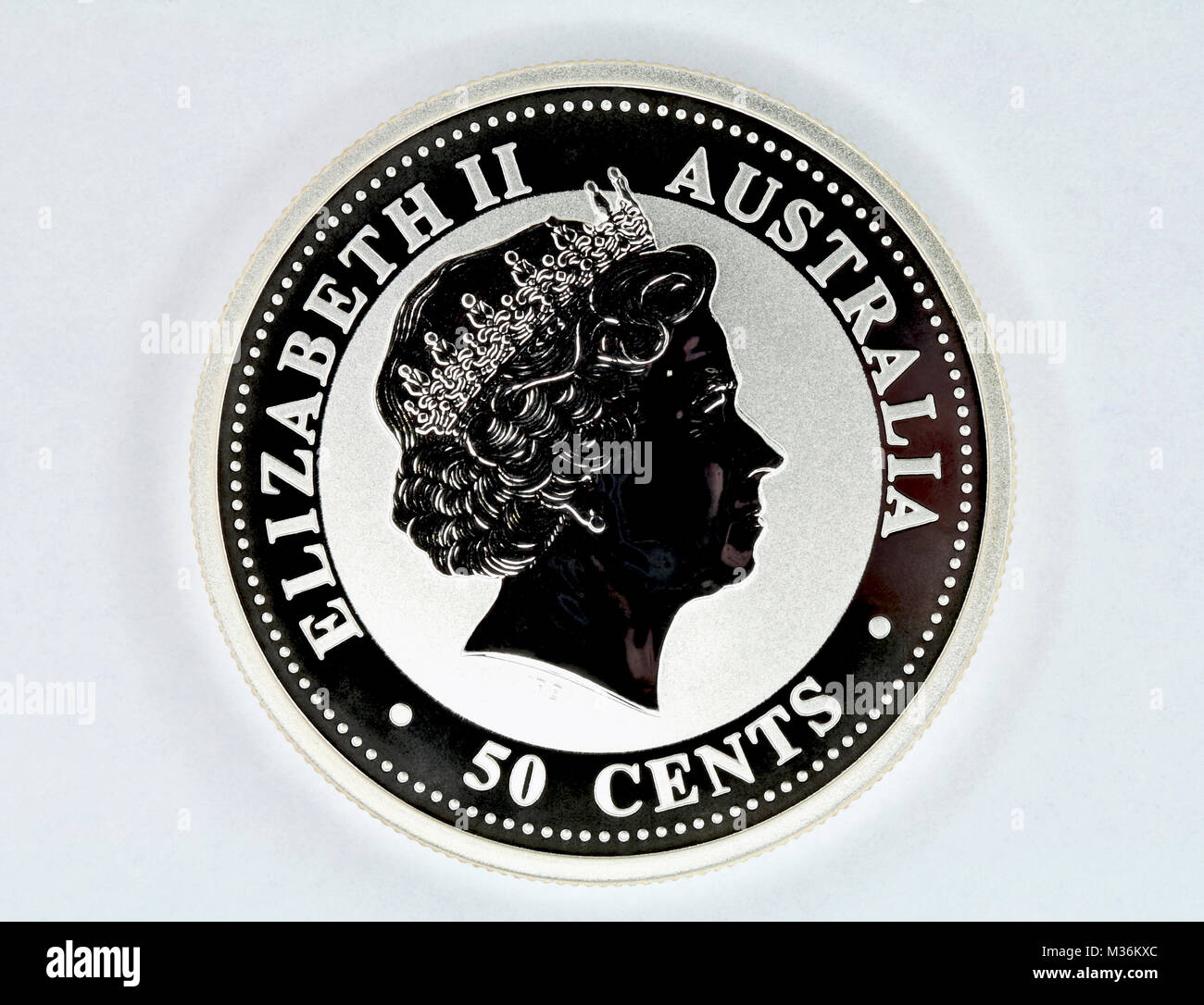 Cents sign stock photos cents sign stock images alamy silver coin of australia face value of 50 cents stock image buycottarizona Gallery