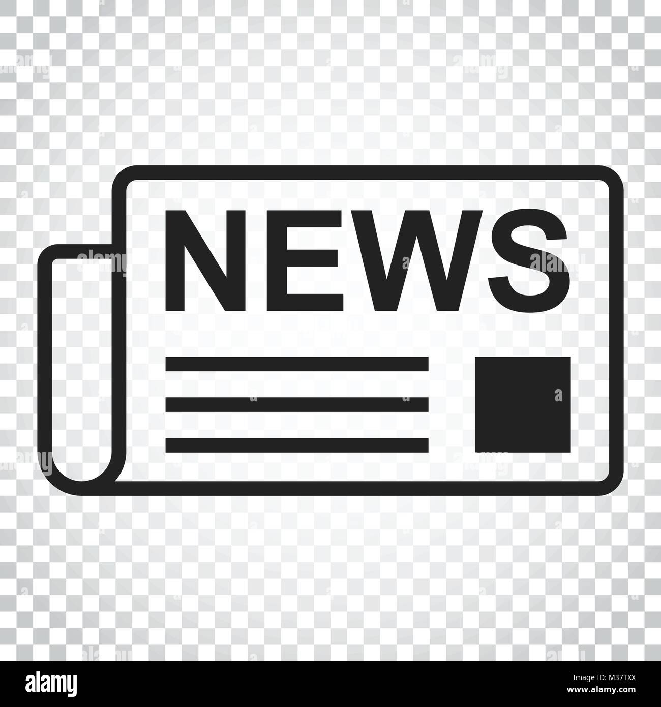newspaper flat vector icon. news symbol logo illustration. business