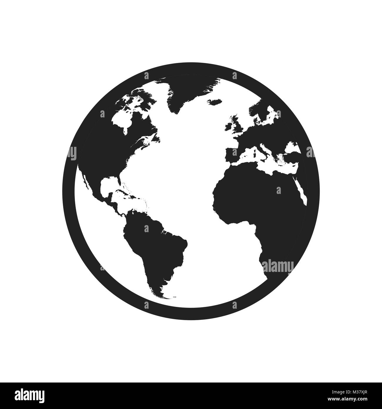 Globe world map vector icon round earth flat vector illustration globe world map vector icon round earth flat vector illustration planet business concept pictogram on white background gumiabroncs Image collections