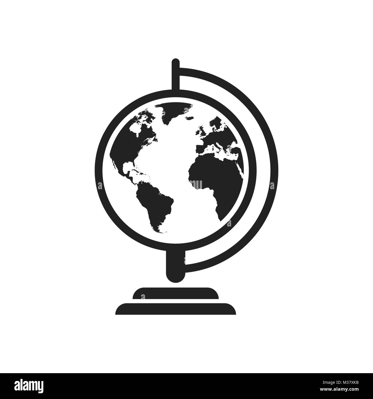 Globe world map vector icon round earth flat vector illustration globe world map vector icon round earth flat vector illustration planet business concept pictogram on white background gumiabroncs Images