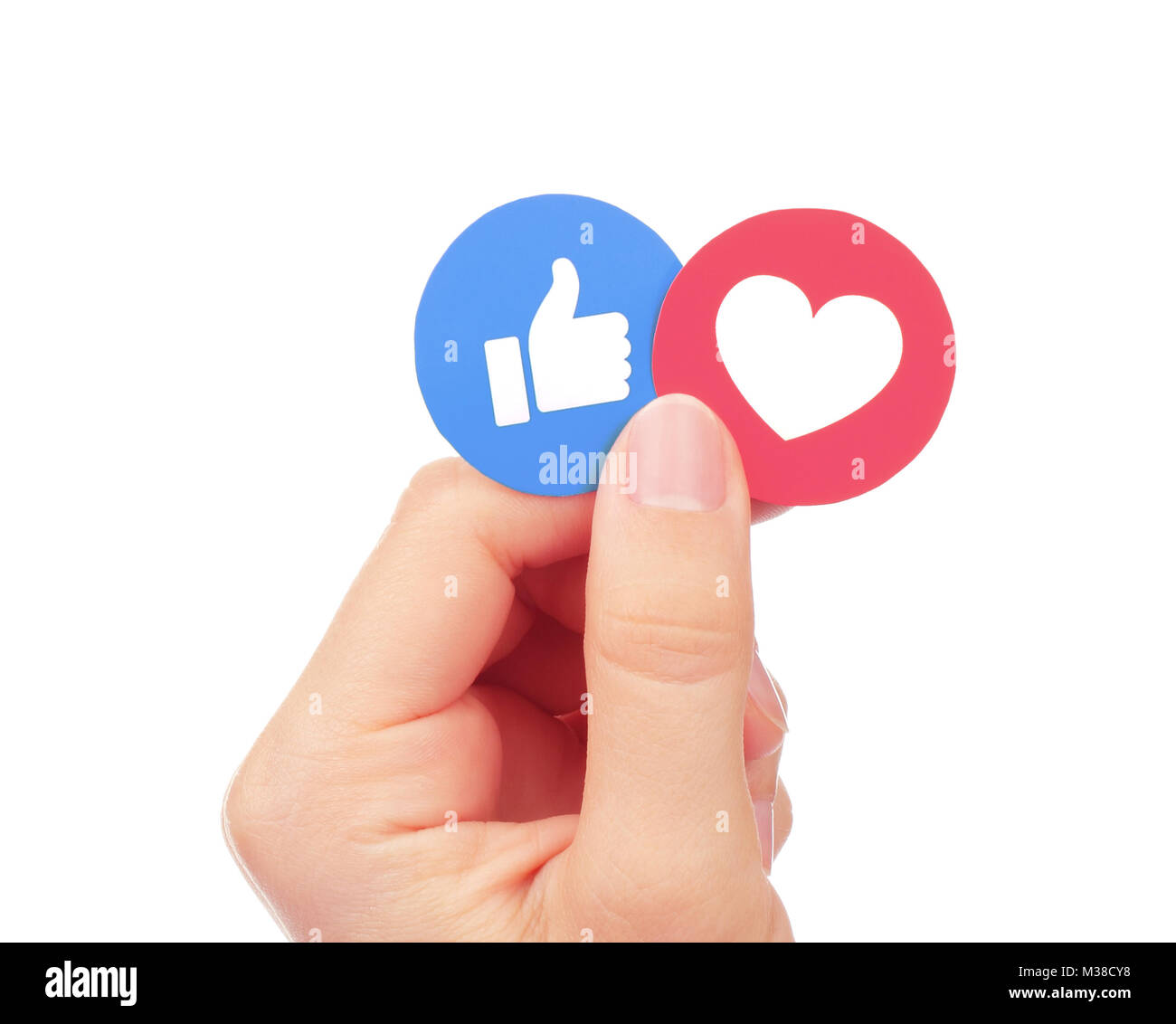 Kiev ukraine september 04 2017 hand holds facebook like and kiev ukraine september 04 2017 hand holds facebook like and love empathetic emoji reactions printed on paper facebook is a well known social ne biocorpaavc Choice Image