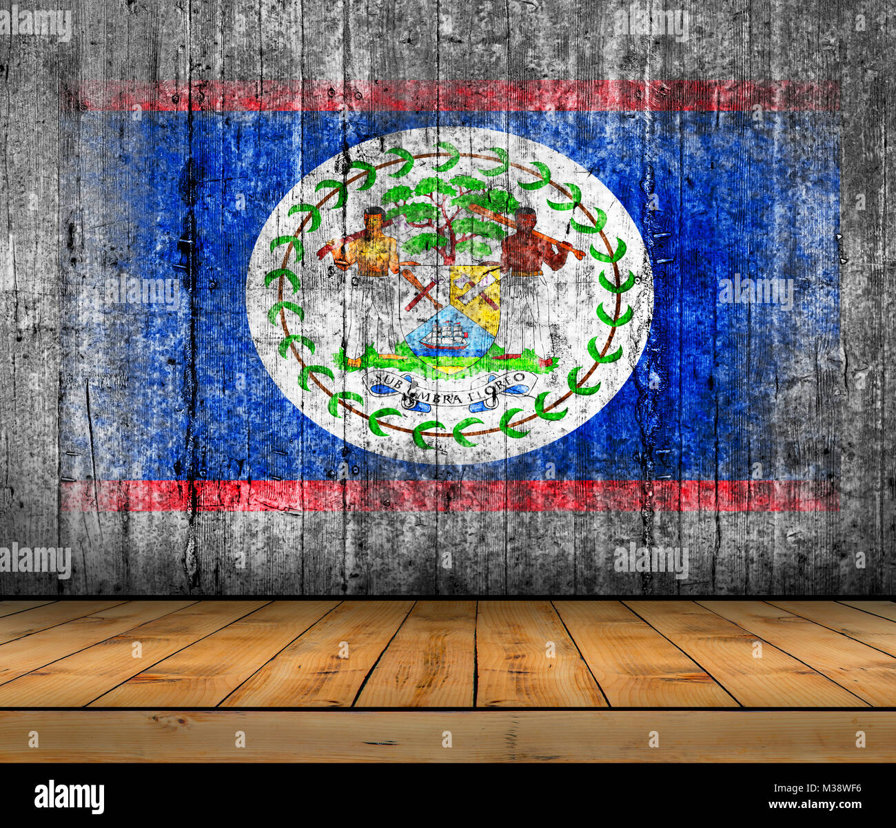 National flag of belize stock photos national flag of belize belize flag painted on background texture gray concrete with wooden floor stock image biocorpaavc Image collections