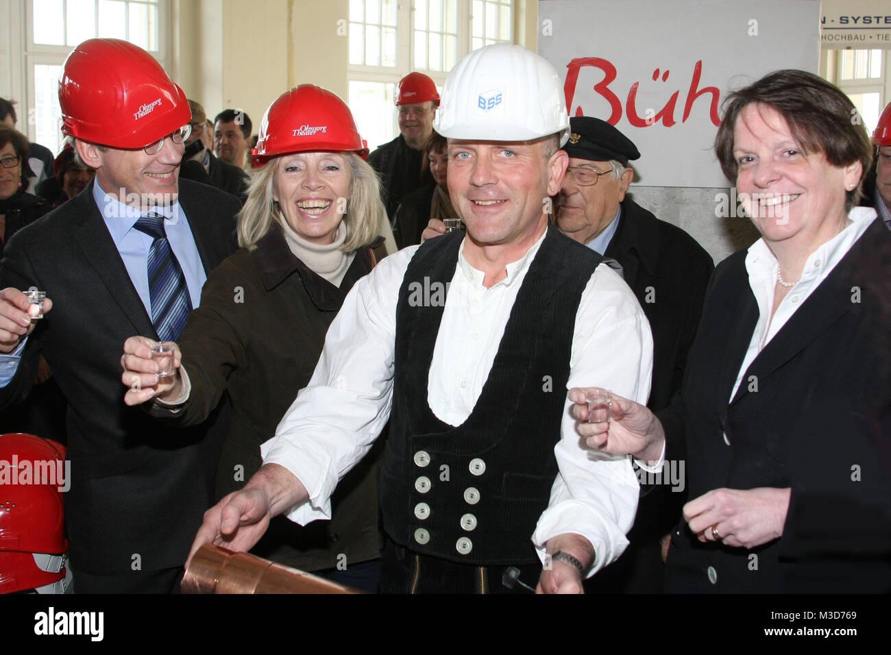 Baufirma Hamburg grundsteinlegung des neuen ohnsorg theaters im bieberhaus hamburg