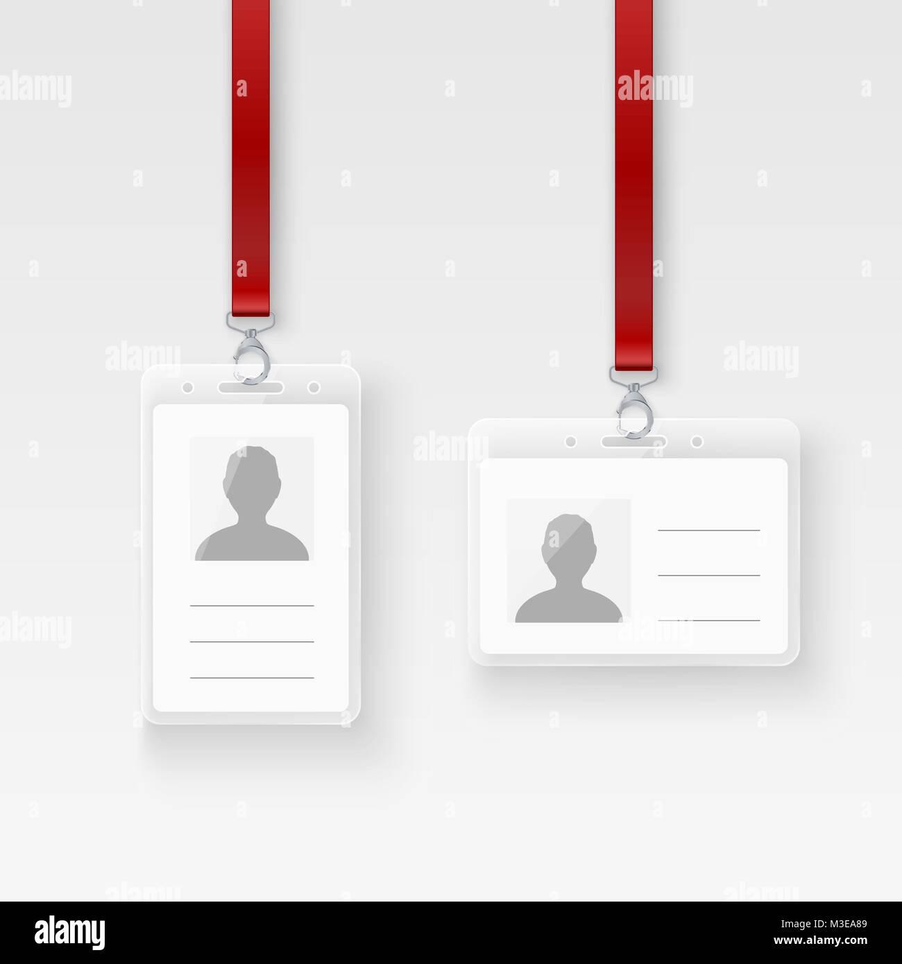 identification personal plastic id card  empty id badge