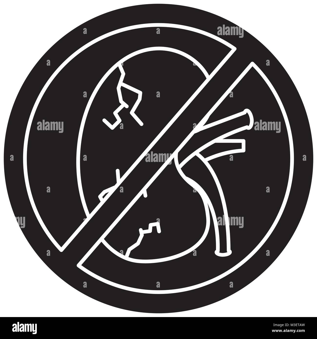 No human kidney disease medical diagram forbidden sign stock vector no human kidney disease medical diagram forbidden sign ccuart Gallery