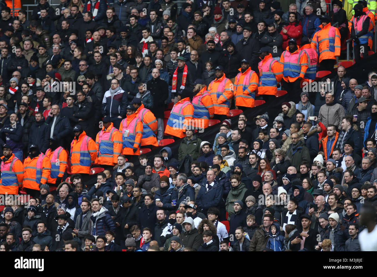 V In Line Fans : Arsenal fans stock photos images alamy