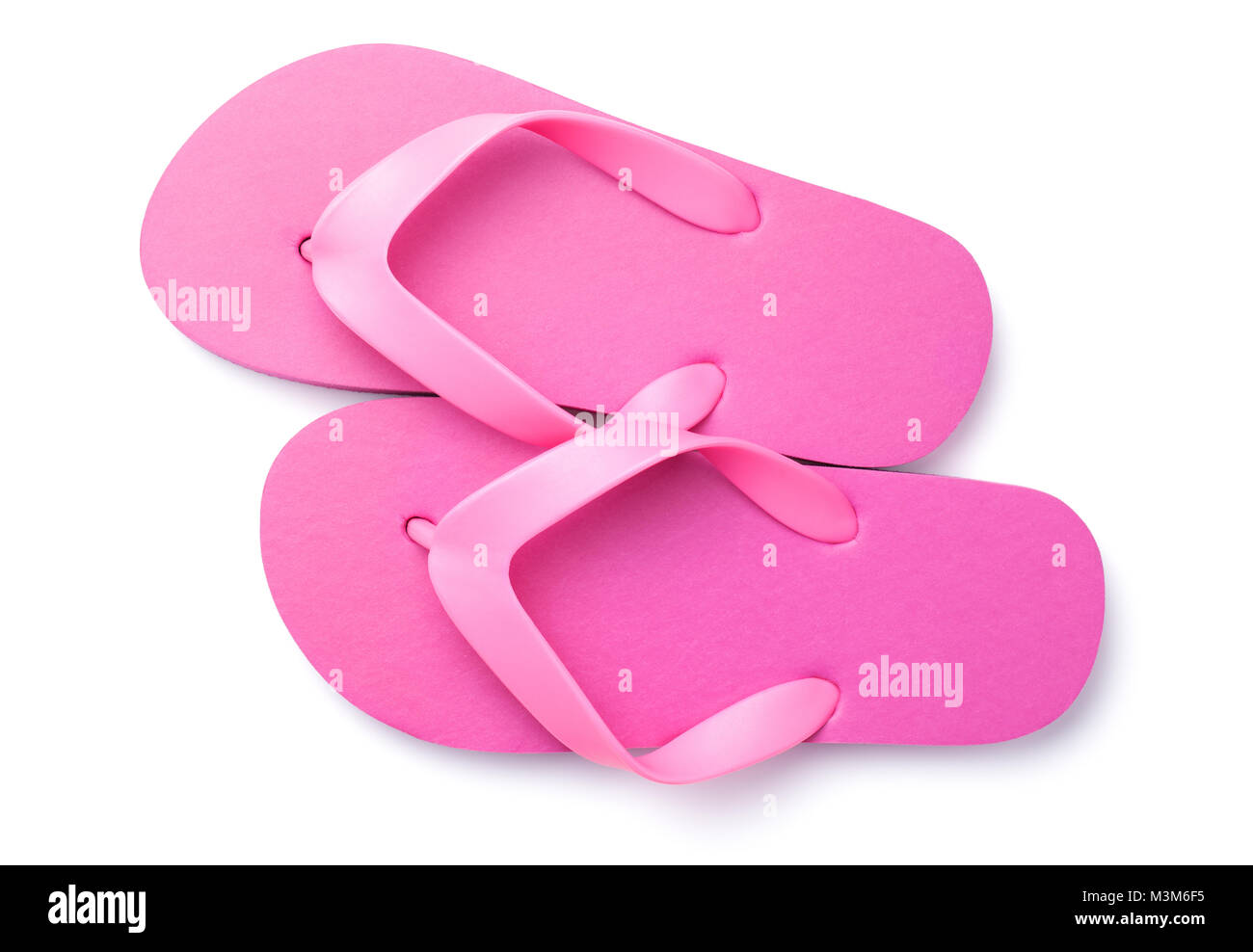 ec9cc41b9245 Summer flip flops isolated on white background. Top view Stock Photo ...