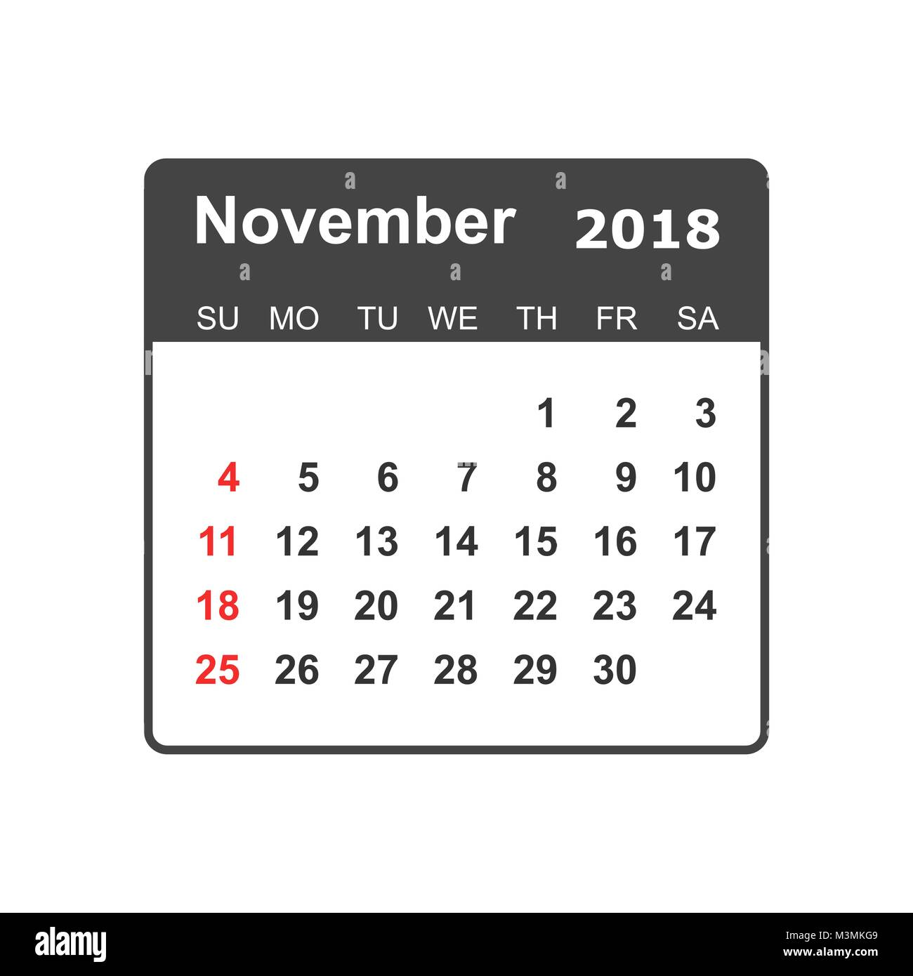 november 2018 calendar calendar planner design template week