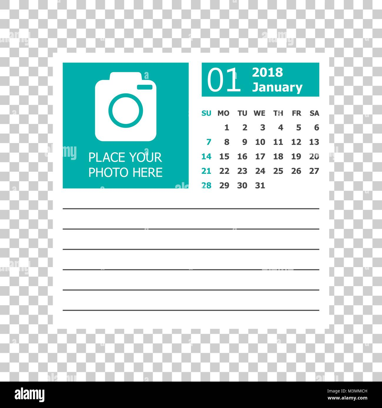 january 2018 calendar calendar planner design template week starts