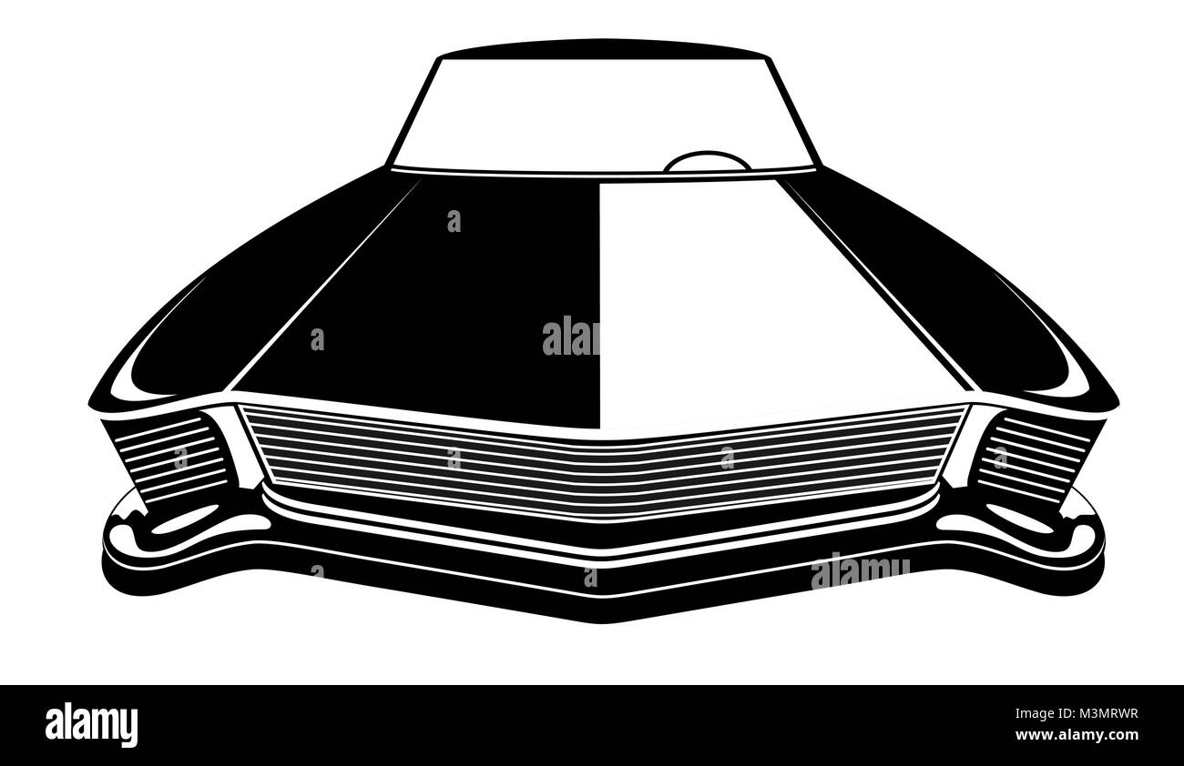 Retro Muscle Car Vector Illustration Vintage Poster Of Reto Car