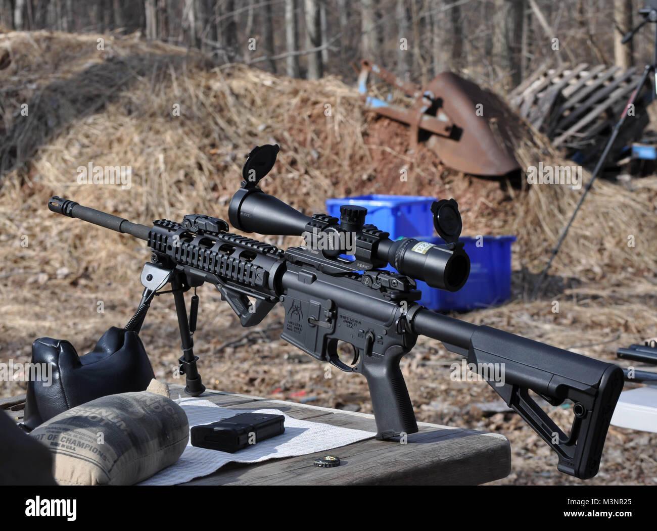 ar15 ar 15 assault gun rifle 5 56 caliber stock photo 174426733 alamy