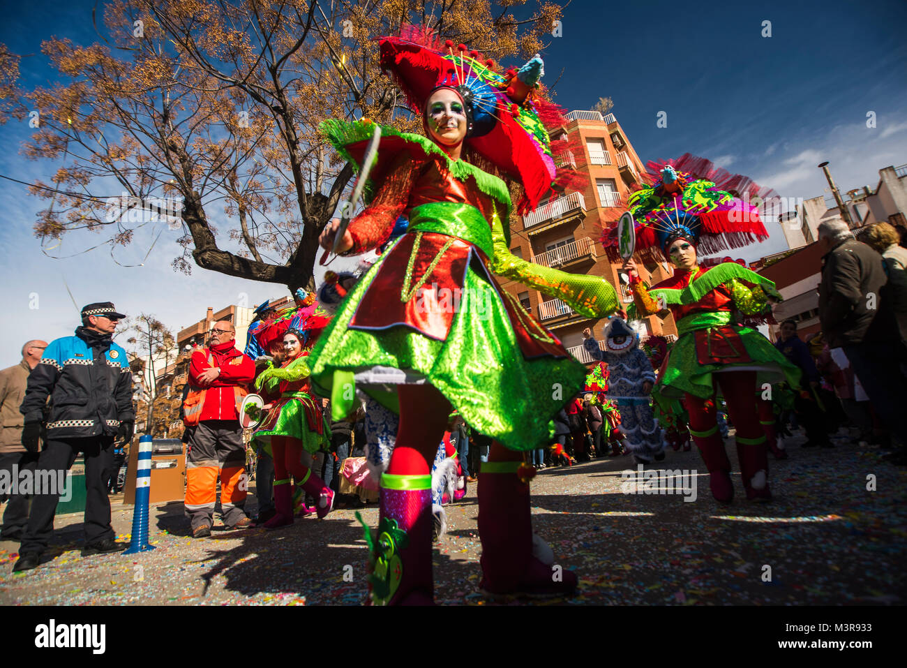 a carnival paty the day that you can find the streets full of life