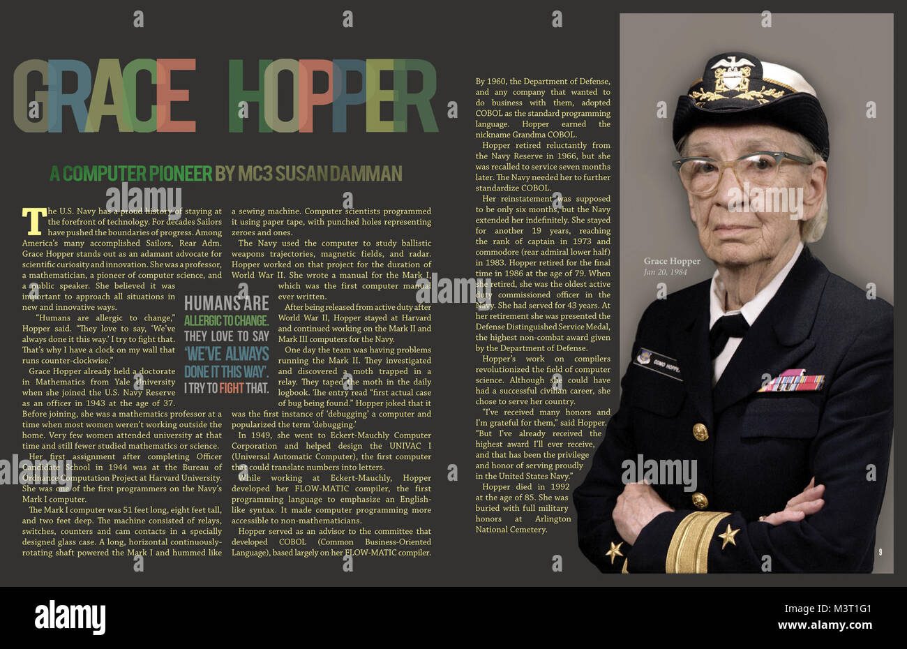 grace hopper biography essay Computer programming pioneer grace murray hopper had an early love of mathematics but also enjoyed play and sports learn about her young life.