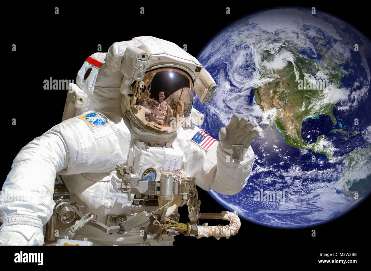 Astronaut space walk stock photos astronaut space walk for Outer space leicester